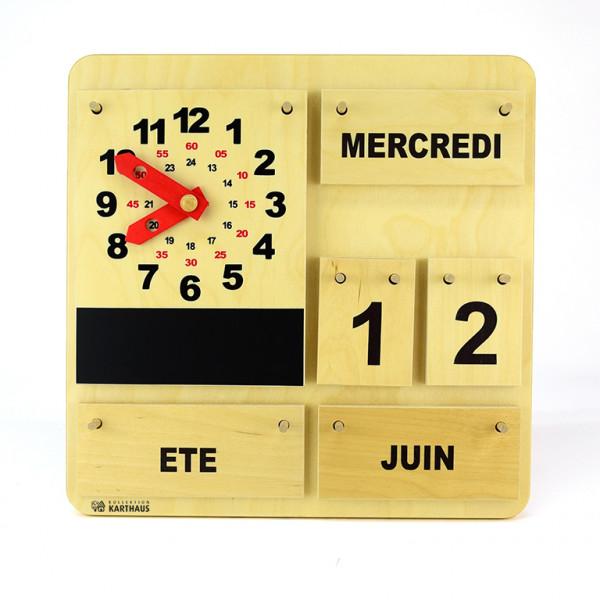 Kalender mit Aktionsuhr - Französisch