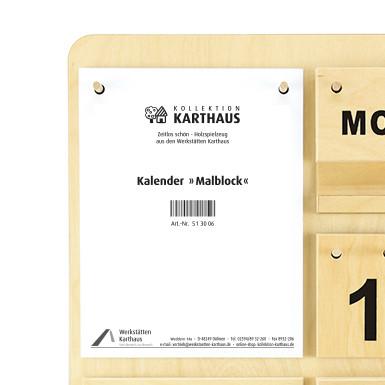 Malblock Kalender